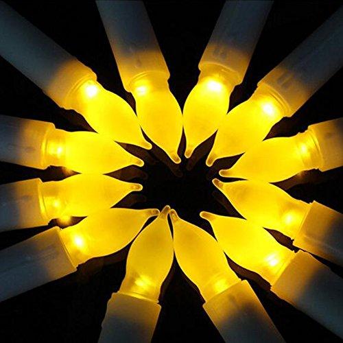 Cuitan set di 12 candele a led alimentato a batteria, senza fiamma luci gialla candles lights decorativa per natale xmas ringraziamento compleanno san valentino matrimoni feste casa interno o esterno
