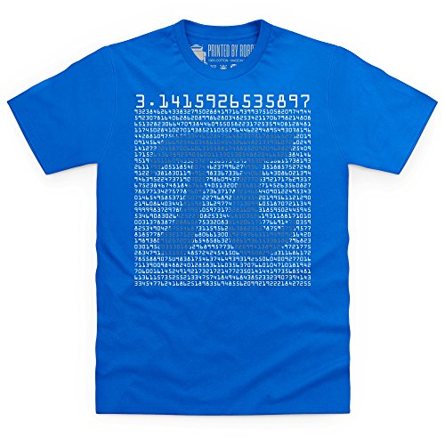 Pi T-shirt, Uomo, Blu royal, 5XL