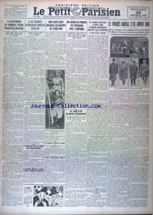 PETIT PARISIEN TROISIEME EDITION [No 18504] du 28/10/1927