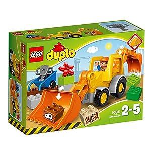 LEGO Duplo Camion e Scavatrice Cingolata con Due Personaggi, Set di Costruzioni per Bambini da 2-5 Anni, Multicolore, 10812  LEGO