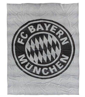 FC Bayern München Kuscheldecke I 150x200 cm I Farbe Grau