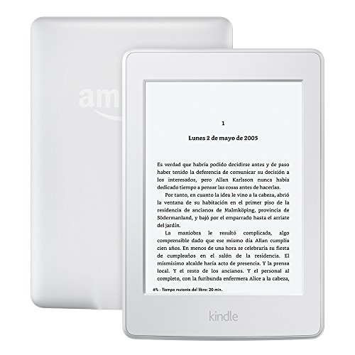 "E-reader Kindle Paperwhite, pantalla de 6"" (15,2 cm) de alta resolución (300 ppp) con luz integrada, wifi (Blanco)"
