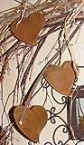 Rostikal | Edelrost Deko Herz, Rostdeko Herzhänger Metall | Set 12 Stück