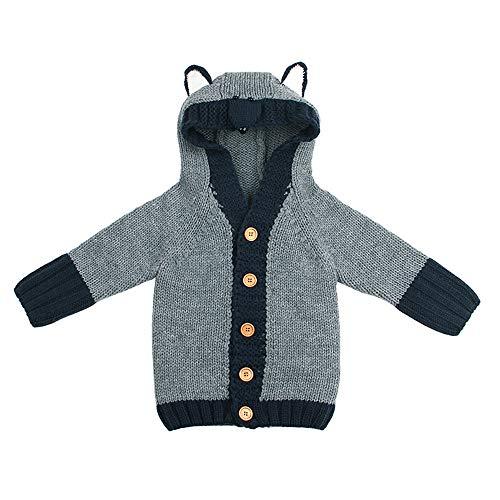 98d783be4 ZODOF Abrigo de Punto Lindo ratón niño Suéter de niñas bebé niños pequeños  con Capucha Fox