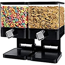 Dispensador de cereales doble / individual La máquina / depósito de alimentos secos contiene 19 onzas