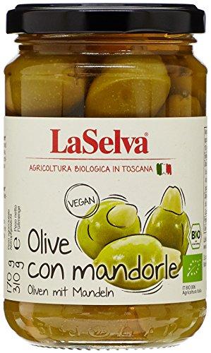 LaSelva Olives Vertes Amandes Bio 310 g