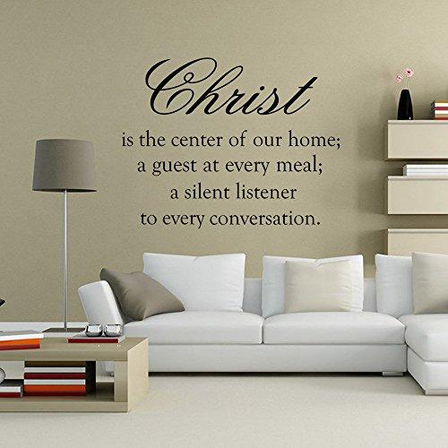 Christian christus ist das zentrum unserer hause vinyl wandaufkleber wandtattoo wandkunst tapete wohnzimmer dekoration 58X75CM (Christian Car-magnete)