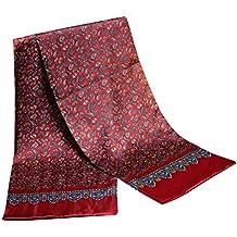 UK_Stone Hommes Echarpe 100% Soie Foulard en Motif Paisley Foulard à Motifs Vintage Foulard Pour Hommes Haute Qualité 100% Véritable Soie Écharpe