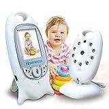 Baby Video Monitor mit Digitalkamera, 2,0 Zoll Bildschirm-Wireless Video Monitor für Babysicherheit mit Nachtsicht/Zwei-Wege-Talkback/Temperatur-Monitor/Wiegenlied-Play