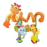 Morbuy New Baby Music Bed Hanging Cribs Toy, Cute Plush Spiral Activity Multi-function Stroller Soft Toys Hanging Rattle Gift Pushchair Pram Car Seat Cot