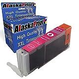 Alaskaprint 1 Druckerpatrone Kompatibel für Canon CLI-571 XL Magenta für Pixma MG 5700 Series MG 5750 Series MG 5750 MG 5751 MG 5752 MG 5753 MG 6800 Series MG 6850 Series