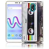 Wiko Lenny 5 Passend Kassette Retro Handy-Hülle Silikon - staubdicht, stoßfest & leicht - Smartphone-Case