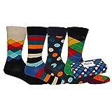 Happy Socks Mix Gift Box, Calzini Uomo, Multicoloured (Pacco da 4)