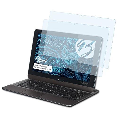 Bruni Schutzfolie kompatibel mit Toshiba Satellite U920T Folie, glasklare Bildschirmschutzfolie (2X)