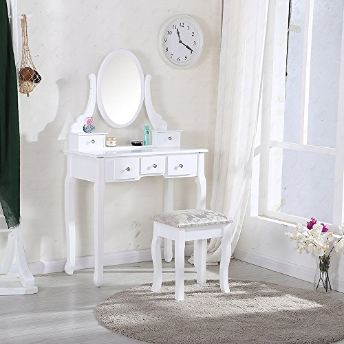 uenjoy-dressing-table-makeup-desk-with-stool-5-drawers-and-oval-mirror-bedroom