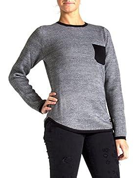 Carrera Jeans - Suéter 872A0241X para mujer, color liso, ajuste regular, manga larga