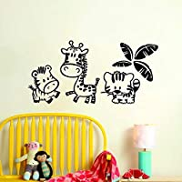 wangpdp Kids Zoo Wall Stickers Home Decor Cartoon Animal Vinyl Wall Decal Creative Children