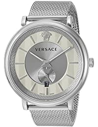 Versace Men's 'THE MANIFESTO EDITION' Quartz Stainless Steel Casual Watch, Color Silver-Toned (Model: VBQ060017)