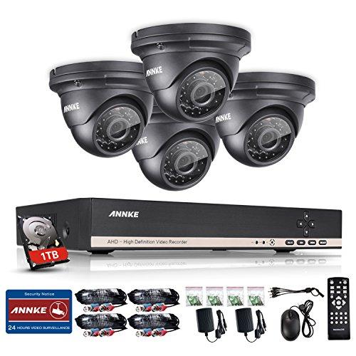 Vigilancia-8-CH-1080-N-AHD-Video-Vigilancia-DVR-Recorder-con-4-x-720p-Dome-cmaras-de-vigilancia-para-interior-y-exterior-con-1TB-Disco-Duro-Visin-Nocturna-entre-20--30-metros
