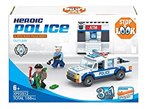 Diakakis 0658166-Bloques-construcción Serie Policía-3en 1-188Piezas