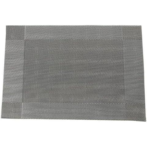 EOZY-Anti-Calore Placemat Tovagliette Grigio di PVC Set