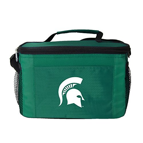 ncaa-michigan-state-spartans-insulated-lunch-cooler-bag-with-zipper-closure-green-by-kolder