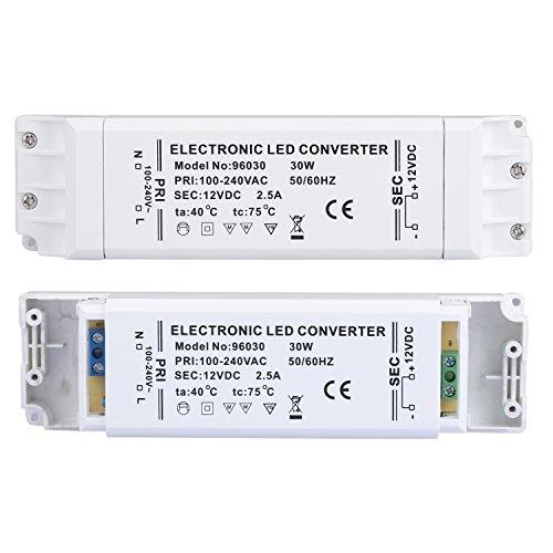 Preisvergleich Produktbild Liqoo® LED Trafo 12V DC Transformator 30W 2,5A EMC Netzteil Treiber 100V - 240V ohne Mindestlast für G4 MR16 Lampe ÜberlastungsschutzÜberhitzungsschutz 0,5 - 30 Watt