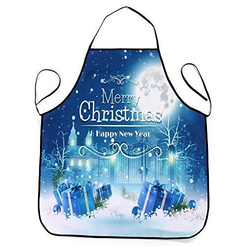 Lqchl 1Pcs 70*80Cm Décoration De Noël Tablier Imperméable En Polyester Pour Le Dîner De Noël Cuisine Tablier Partie Décoration D,A