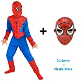 #8: Fancydresswale Amazing Spiderman Dress and Mask Combo (6-8 Years)