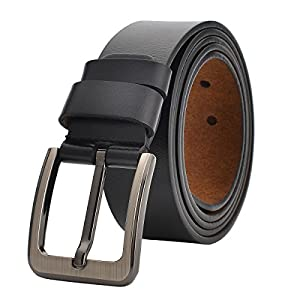VRLEGEND Ledergürtel Herren 110-175cm Gürtel Leder Jean Business Metall Retro Jeansgürtel Vollrindleder 38mm Breite