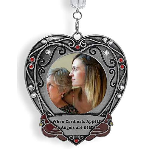Banberry Designs Gedenktafel für Weihnachten, mit Aufschrift When Cardinals Appear Angels Are Near, in Loving Memory