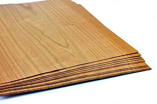 Impiallacciature 15-17 in legno di ciliegio, impiallacciatura adatta per: Modellismo, lavori di riparazione, restauro, fai da te, Intarsi