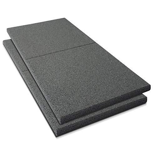 Fallschutzmatten Play Protect Plus | extragroß | grau | Fallschutz made in Germany | einzeln oder im 2er Set (2 Stück: 100 x 100 cm)