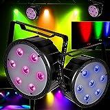 Pack 4Juegos de luces LED PAR Aura 64RGBW 7x 10W 4en1DMX Flash f7100307
