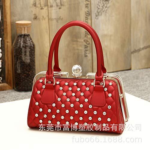 LFGCL Bags womenJelly Bag tragbare Kosmetiktasche, rot