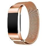 Cinturino Fitbit Charge 2, IVSO 18cm Milanese Watch Band Strap Cinturino Orologio in Acciaio Inossidabile Sostituzione Cinghia di Polso per Fitbit Charge 2, (S, Nero)
