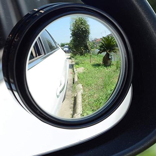 Seasaleshop 2 Stück HD Toter-Winkel-Spiegel, Winkel Spiegel Totwinkel Seite Spiegel HD 360 Weitwinkel Blindspiegel für alle Autospiegel
