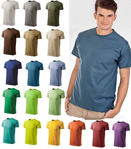 T-Shirt für Herren Shirt Basic - Größe und Farbe wählbar - Schiefer