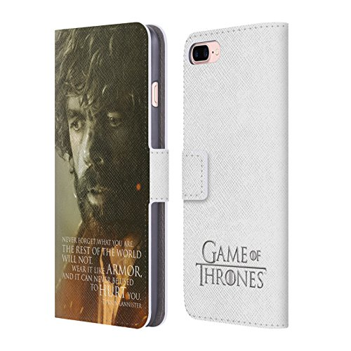 Offizielle HBO Game Of Thrones Jon Snow Character Portraits Brieftasche Handyhülle aus Leder für Apple iPhone 6 Plus / 6s Plus Tyrion Lannister