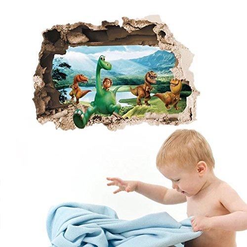 GenialES 3D Dinosaurio Jurásico Pegatina de Pared DIY Vinilo Decorativo Adhesivo PVC para Dormitorio para Niños Bebé
