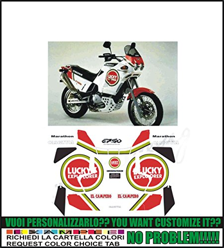 Kit adesivi decal stikers cagiva elefant e 750 lucky explorer marathon (ability to customize the colors)