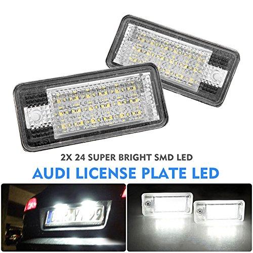 Wildlead 2 pz / set auto targa lampada numero di targa luci per Audi Canbus A3 S3 A4 B6 B7 A6 S6 A8 RS4