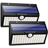 Solar Lights Outdoor, HETP Upgraded 78 LED Solar Motion Sensor Security Lights 2000 mAh Solar Powered Lights Waterproof Wireless Wall Lights Solar Lamps with 3 Intelligent Modes for Garden(2 Pack)