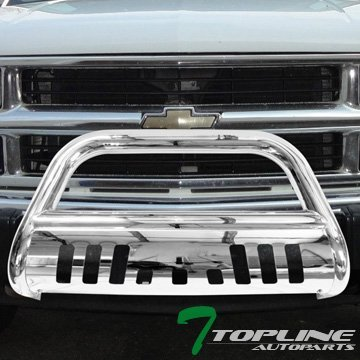 topline-autopart-ss-chrome-bull-bar-push-bumper-grill-grille-guard-1988-gmc-c10-suburban-yukon-by-to