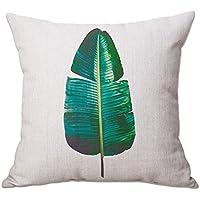 """cosanter cojín Tropical una hoja impresión manta funda de almohada para sofá coche decoración para el hogar 17,7"""""""