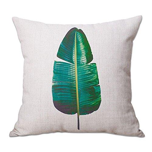 cosanter cojín Tropical una hoja impresión manta funda de almohada para sofá...