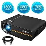 Beamer, ELEPHAS LED Mini Beamer unterstützt 1080P HD 1500 lumen für...