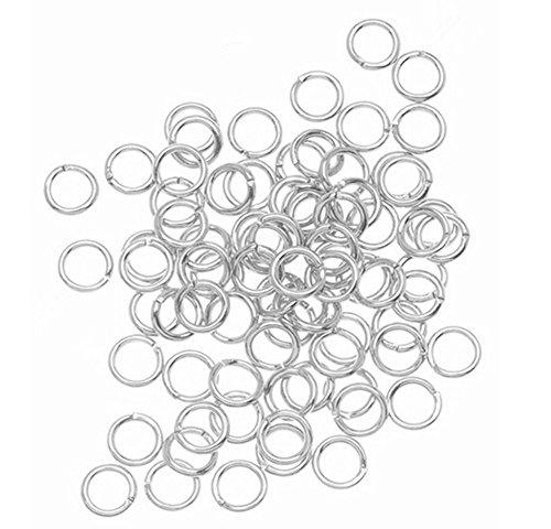 Chytaii 300x Anneaux de Connecter Anneau de jonction Ronds Clés Metal Diamètre 5mm pour DIY Vos Bijoux
