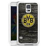 DeinDesign Samsung Galaxy S5 Silikon Hülle Case Schutzhülle Borussia Dortmund BVB Holzoptik