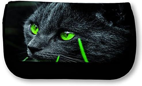 FS - Trousse noire Chat yeux verts B01JK2E9KK | Pour Votre Sélection